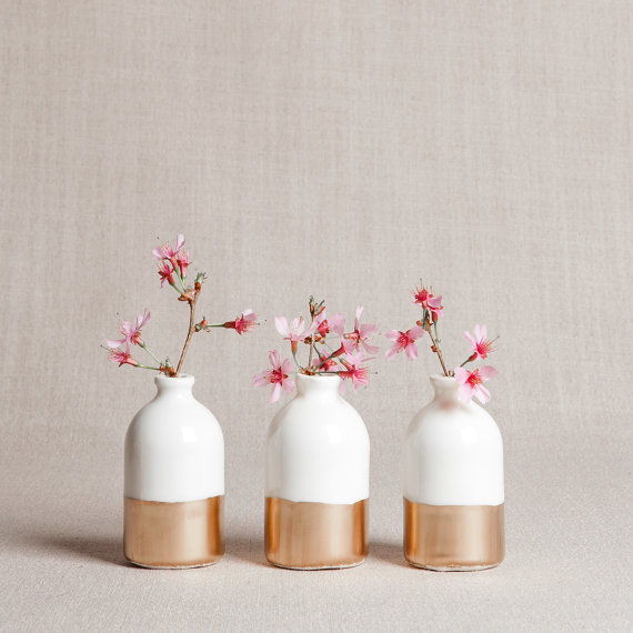 white-and-gold-minimalist-bud-vases-set-of-three-etsy