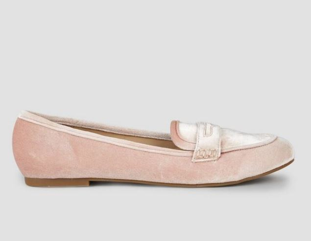 pink loafer new look