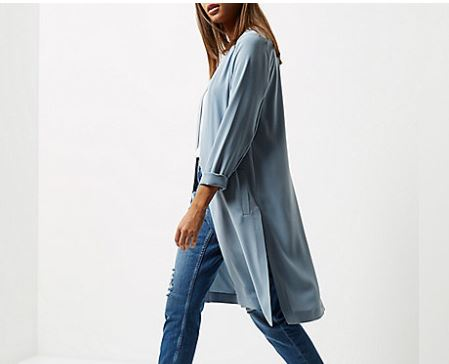 river island duster coat