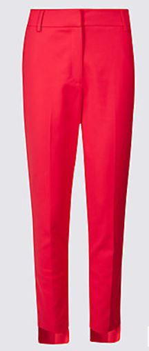 cotton hem step hem trousers