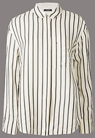 stripped long sleeve shirt