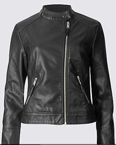 twin pocket moto jacket
