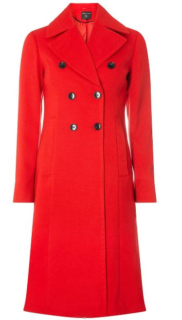 dorothy perkins red coat