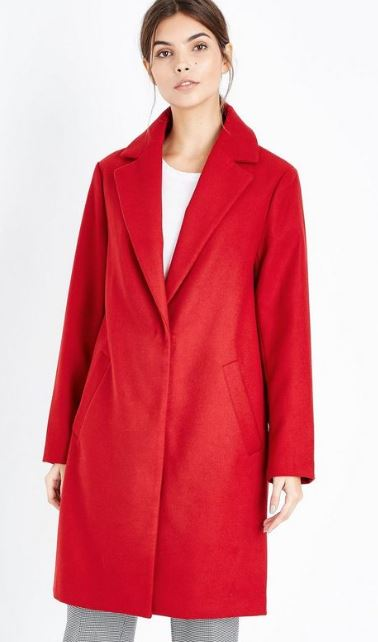 New look red coat