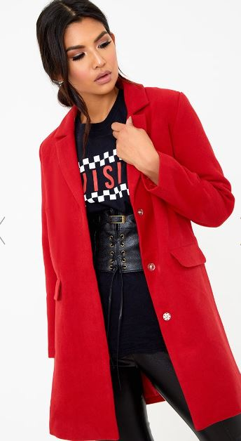 pretty little thing red coat